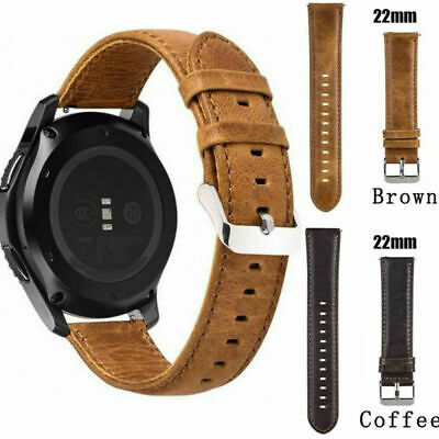 Genuine Leather Wristwatch Bands For Samsung S3/S2/ Galaxy Watch 20/22mm Acces