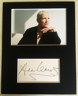ANNIE LENNOX HAND SIGNED Autograph Mounted With Photo EURYTHMICS Dave Stewart