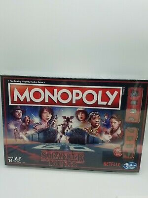 Monopoly Stranger Things Edition Netflix 80s Board Game Hasbro NEW SEALED