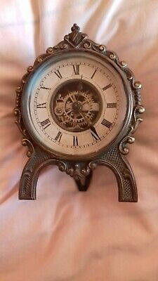 ANTIQUE. American ,Brass timepiece  .by .E. N Welch