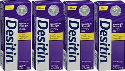 Desitin Diaper Rash Paste Maximum Strength Zinc Oxide 4oz ( 4 Pack )