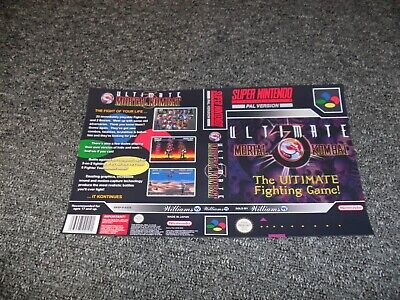 REPLACEMENT NINTENDO SNES UNIVERSAL GAME CASE BOX cover only - U MORTAL KOMBAT 3