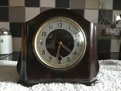 Smiths Enfield Bakelite Mantle Clock Needs Attention