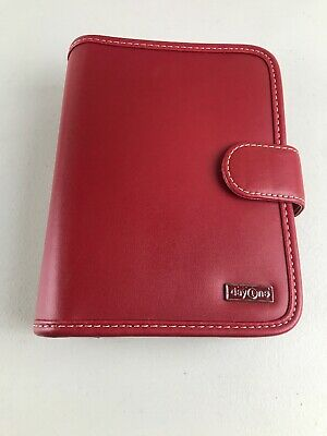 """1.25"""" thick Red FAUX LEATHER Franklin Covey 365 Planner DAY ONE BINDER"""