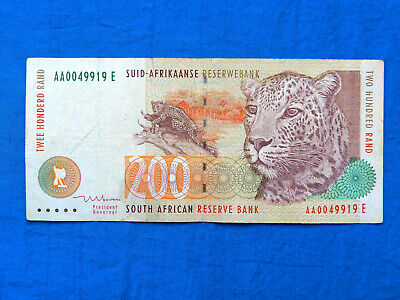 1999 South Africa 200 Rand Banknote *P-127b*         *VF*