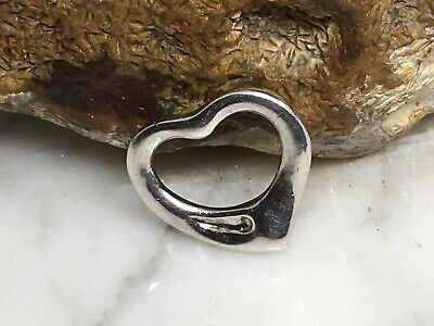 Tiffany & Co Elsa Peretti Sterling Silver small 16mm open heart pendant