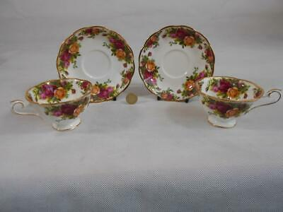 Royal Albert Old Country Roses.Two,Avon Shape,Tea cups & Saucers.