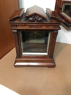 Antique Signed Lenzkirch Carved Bracket Mantle Clock Case Parts