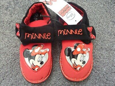 Disney MINNIE MOUSE Slippers Size UK 12-13 EUR 31-32) NWT