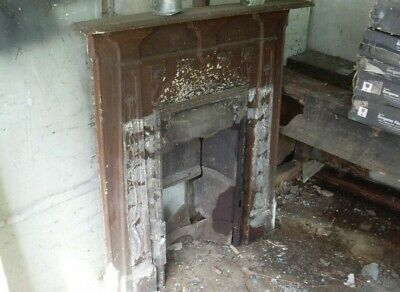 Victorian / Antique Cast Iron Fire Surround /  Fireplace