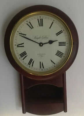 Wood And Brass  Framed Knight & Gibbins London Round Wall Clock