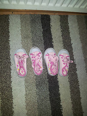 Two Pairs of Girls Infant Trainers size 5