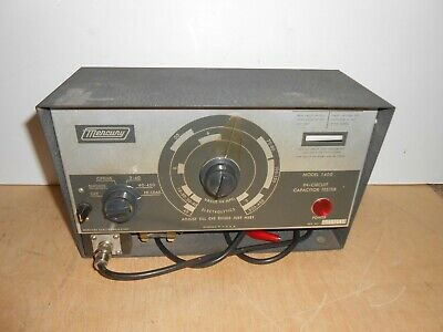 Vtg Mercury Model 1400 In-Circuit Capacitor Tester Electrolytics & Other Caps