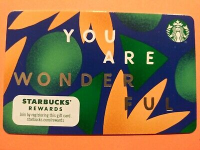 """Starbucks gift card 2019/2020 """"YOU ARE WONDERFUL"""" NEW NO VALUE HOT! HOT! HOT!"""