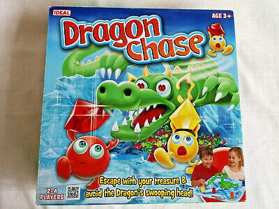 DRAGON CHASE Board Game Super RARE 2012 Ideal - 100% complete VGC