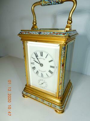 French carriage clock  enameled  Original condition 1903 Shreve San Francisco