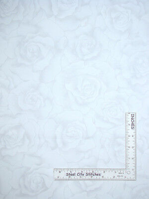 Timeless Treasures Frosting HUE C6075 White Feel Good Words BTY Cotton Fab
