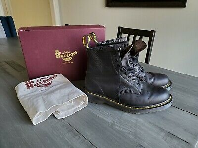 Doc Dr Martens MIE Made In England UK 9 1460 Abandon Black Combat Boots