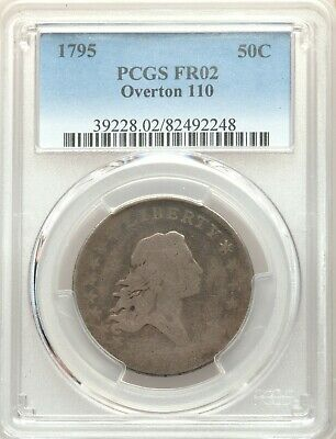 1795 PCGS FR02 Flowing Hair Bust Half Dollar O-110 Type Coin 224 Years Old FA2
