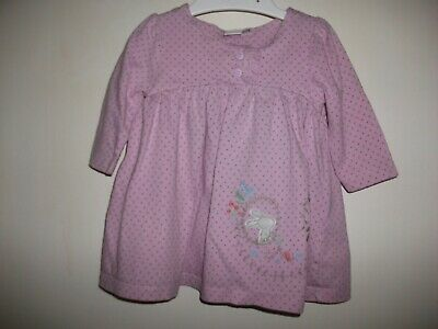 Mini Club Baby Girls Pink Spotted Long Sleeved Dress - Age 3-6 Months