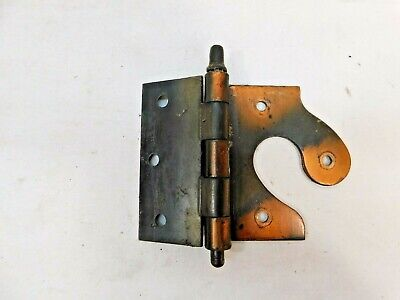 1900's Antique DOOR HINGES Face Mount VICTORIAN Style Copper/Black ORNATE
