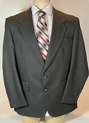 Stafford Men's Suit Black 43 Regular Coat, 35x32 Pants