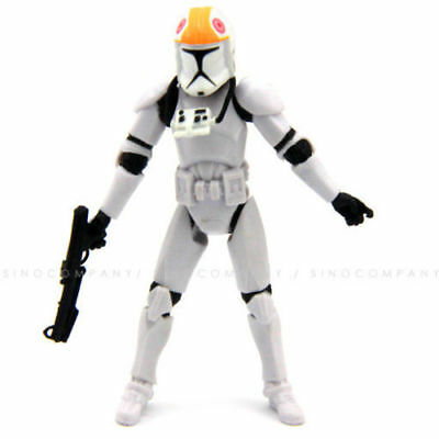 "3.75"" Star Wars 2005 Clone Pilot Trooper Revenge of the Sith Figure Toy"