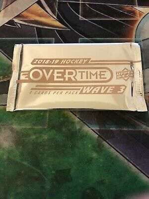 2018-2019 Upper Deck Overtime Hockey Factory Sealed Booster  1 Pack   Rare