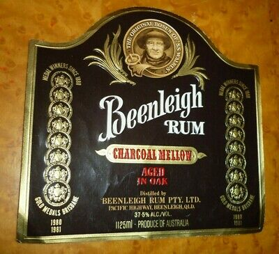 Collectable rum labels: Beenleigh 1125ml Rum label MINT