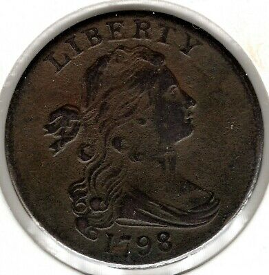 1798 Draped Bust Large Cent (2nd Hair Style) - Choice VF