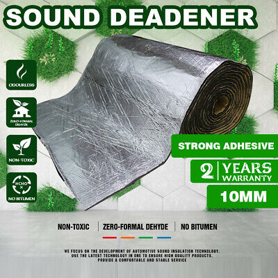 Noise Sound Deadener Dampening Heat Insulation Mats Floor Trunk Engine 10 Sq.Ft