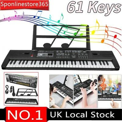61Keys Digital Music Electronic Keyboard Electric Piano Organ 16 Timbre UK STOCK