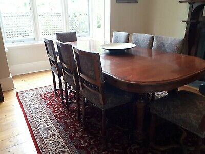 Antique French 8 Seater Dining Table and Chairs
