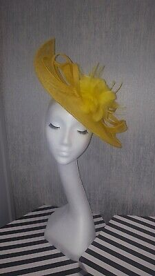 yellow fascinator hatinator weddings special occasions the races feathers