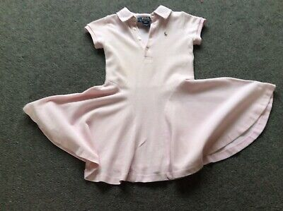 Girls Ralph Lauren Age 2-3 ( Size 3T)Years Polo Pink Dress Designer.