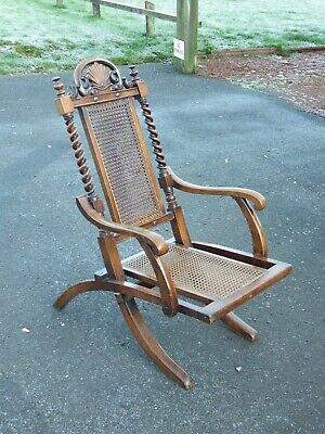 Beautiful Antique / Victorian Bergere Campaign Chair