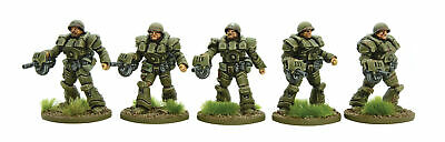 Warlord Games Bolt Action US Heavy Infantry Blister 453010401 Unpainted Mini