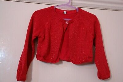 Girl's Red Sparkling Cardigan by Marks & Spencer size 2-3 yrs