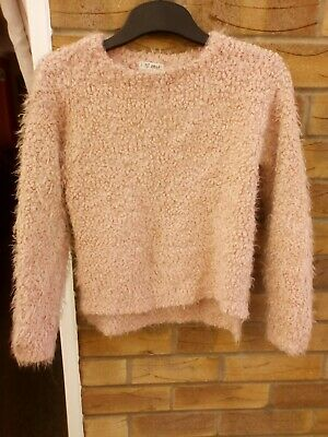 Girls Next Pink Soft & Fluffy Jumper Age 7 VGC