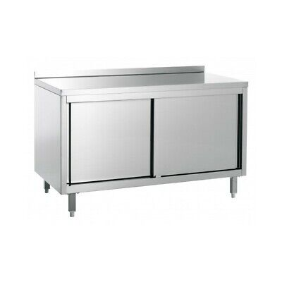 Table Work Cabinet Steel with Tier - Width 160 CM
