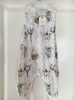 Next Baby Girls Age 9-12 Months Dungarees/romper/playsuit Bnwt