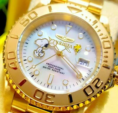 INVICTA x PEANUTS SNOOPY Wrist Watch Submariner Gold 28518 Limited to 3000 Pcs