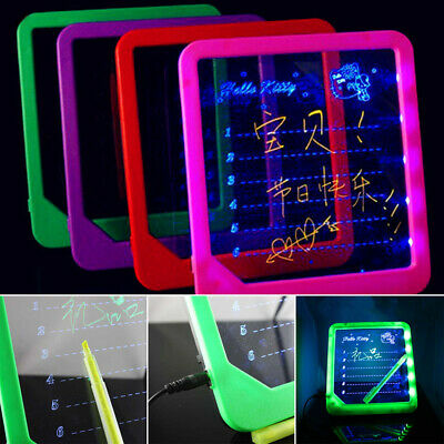 Practical Ultra Thin Drawing Square Fluorescent Kids Stable Handwriting Board