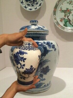 A Rare Qing Dynasty Kangxi Era Soft Paste Chinese Blue And White Meiping Vase