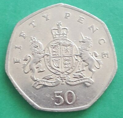 2013 Christopher Ironside 50p coin - GB rare coin hunt fifty pence