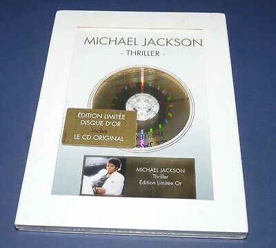 MICHAEL JACKSON Thriller Limited Edition Or 2012●RARE SEALED MINT●BOX GOLD CD