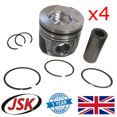 Pistons, Pins & Rings Set for 73.7mm Bore 1.4 TDCI & HDI Ford Citroen Peugeot