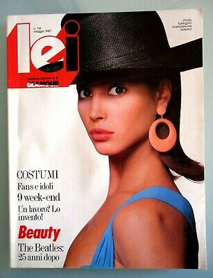 LEI  Edizione GLAMOUR 1987  N. 118   CHRISTY TURLINGTON