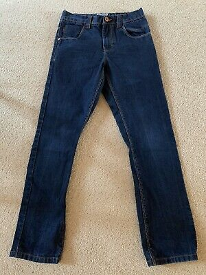 Next Boys Age 10 Years Blue Denim Jeans Regular Adjustable Waist (New W/O Tags)