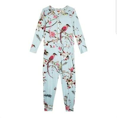 Ted baker Girls Floral all in one  suit / pyjamas sleepwear. 7-8 Years. Designer